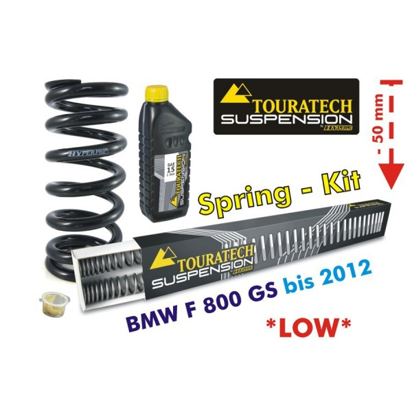 Touratech Height lowering kit, 50mm, for BMW F800GS 2008-2012 replacement springs