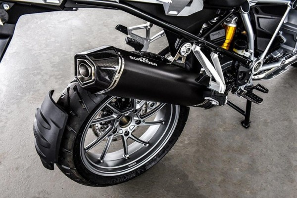 Touratech Silencer AC-Schnitzer Stealth, black, slip-on BMW R1250GS/A R1200GS/A 17-