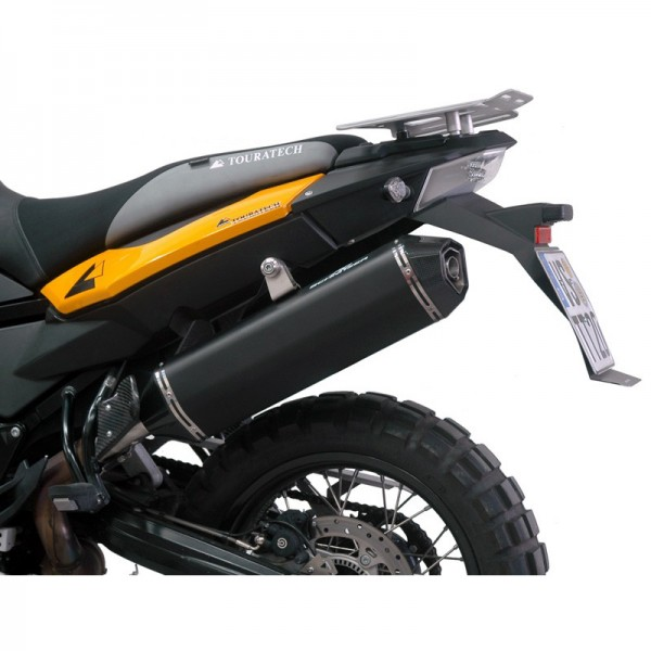 Touratech AC Schnitzer Stealth rear silencer black street legal BMW F800GS/A /F700GS/F650GS Twin