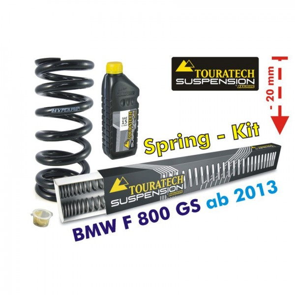 Touratech Height lowering kit -20 mm for BMW F800GS/Adventure *from 2013**replacement springs*