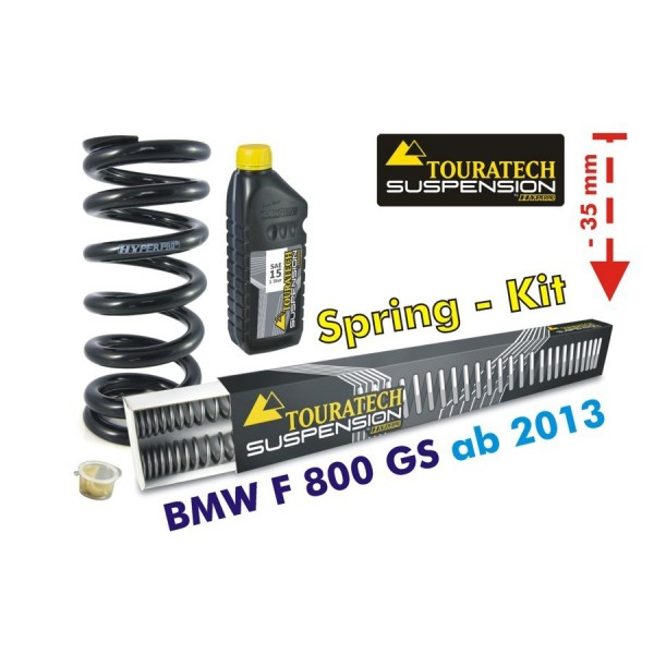 Touratech Height lowering kit -35 mm for BMW F800GS/Adventure *from 2013**replacement springs*
