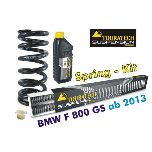 Touratech Hyperpro progressive replacement springs fork and shock absorber, BMW F800GS/A 2013 on