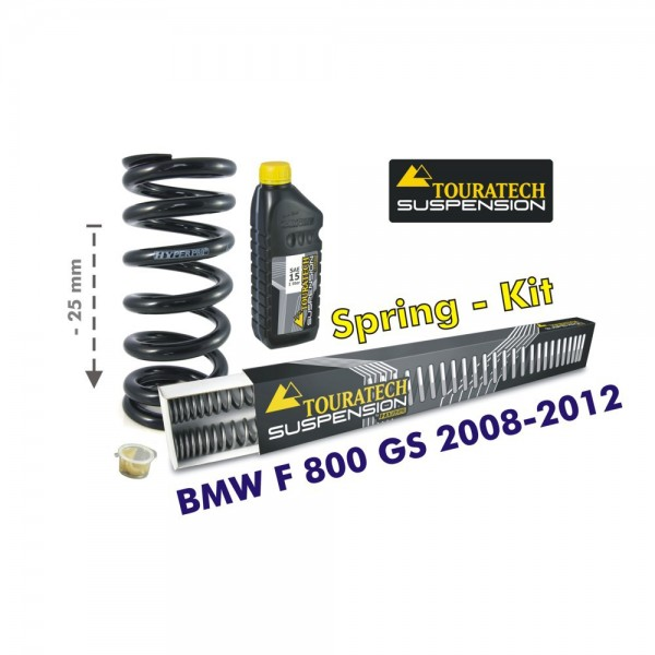 Touratech Height lowering kit, 25mm, for BMW F800GS 2008-2012 replacement springs