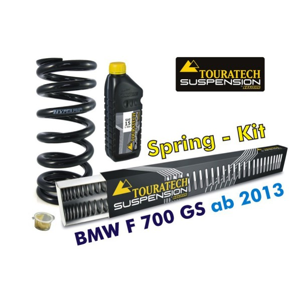 Touratech Hyperpro progressive replacement springs for fork and shock absorber, BMW F700GS from 2013