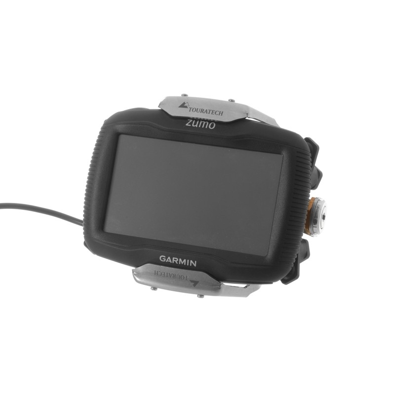 Touratech  Handlebar mount for Garmin Zumo 340, Zumo 350 V 3.0 *lockable*, black 065-0771
