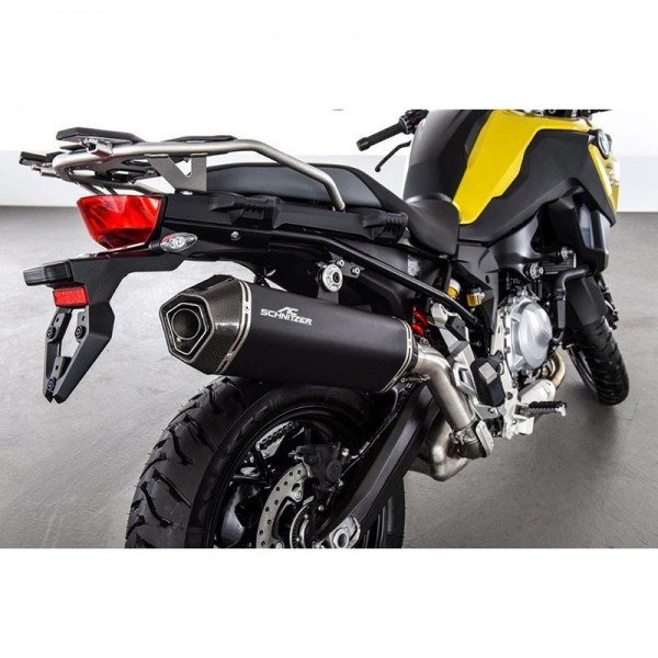 Touratech Silencer AC-Schnitzer Stealth, black, slip-on for BMW F850GS/ F750GS