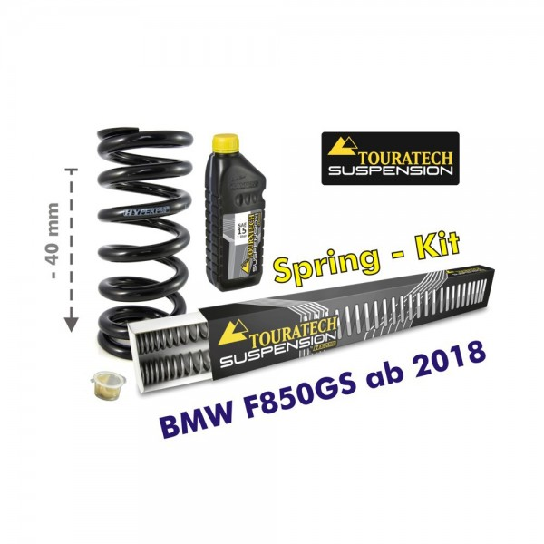 Touratech Height lowering kit, 40mm, for BMW F850GS/BMW F850GSA from 2018 replacement springs