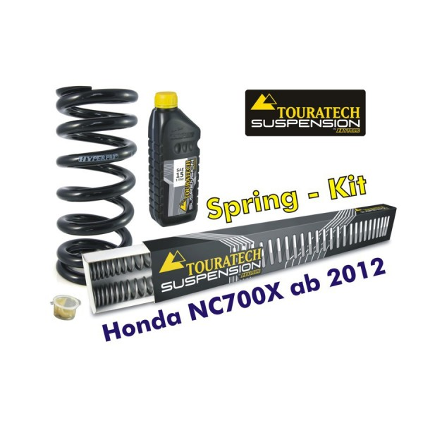 Touratech Hyperpro progressive springs for fork and shock absorber Honda NC700X from 2012
