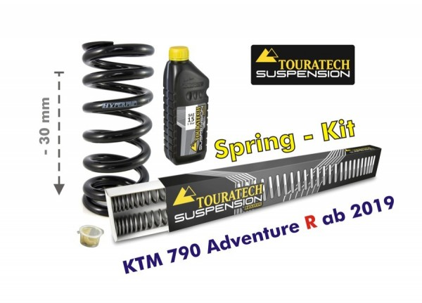 Touratech Height lowering kit, -30mm, for KTM 790 Adventure R from 2019 replacement springs