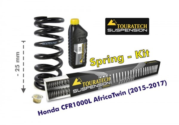Touratech Height lowering kit, 25mm, for Honda CRF1000L Africa Twin (2015-2017) replacement springs