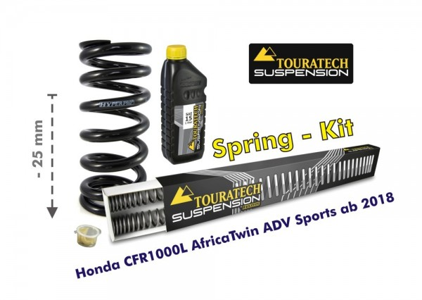 Touratech Height lowering kit, 25mm, for Honda Africa Twin Adv Sports 2018- replacement springs