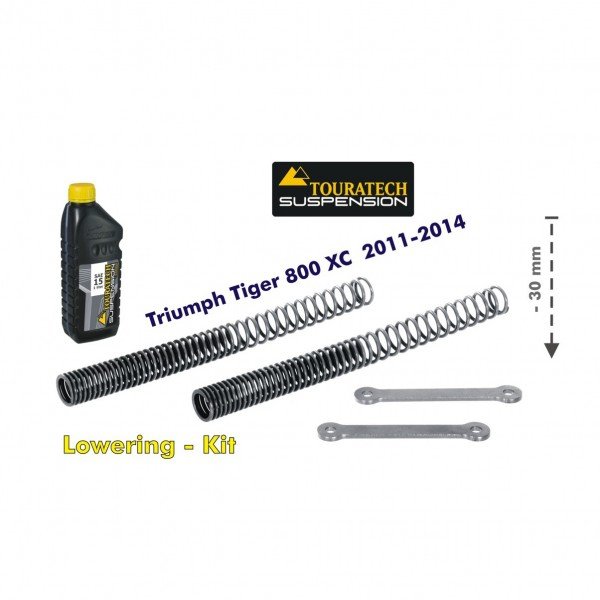 Touratech Height lowering kit 30mm Triumph Tiger 800 2011-14 replacement springs and reversing lever