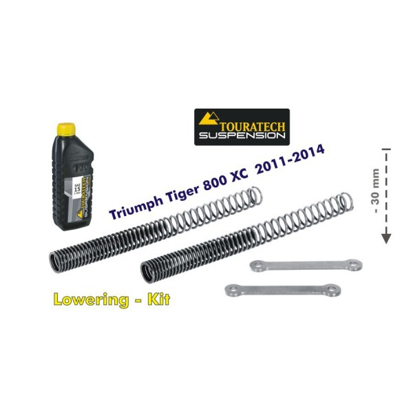 Touratech Height lowering kit 30mm Triumph Tiger 800XC 2011-14 replacement springs and reverse lever
