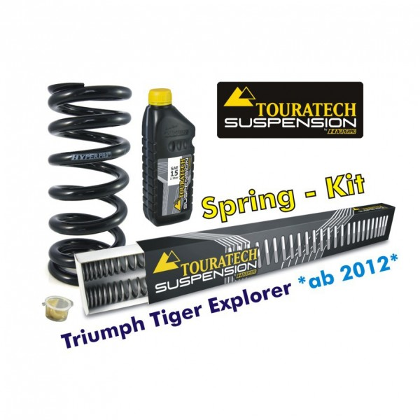 Touratech Hyperpro progressive replacement springs fork and shock Triumph Tiger Explorer from 2012