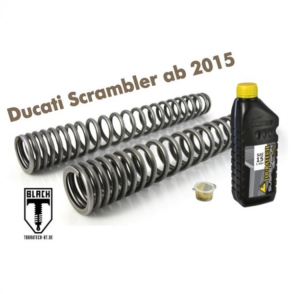 Touratech Progressive Black-T fork springs for Ducati Scrambler from 2015