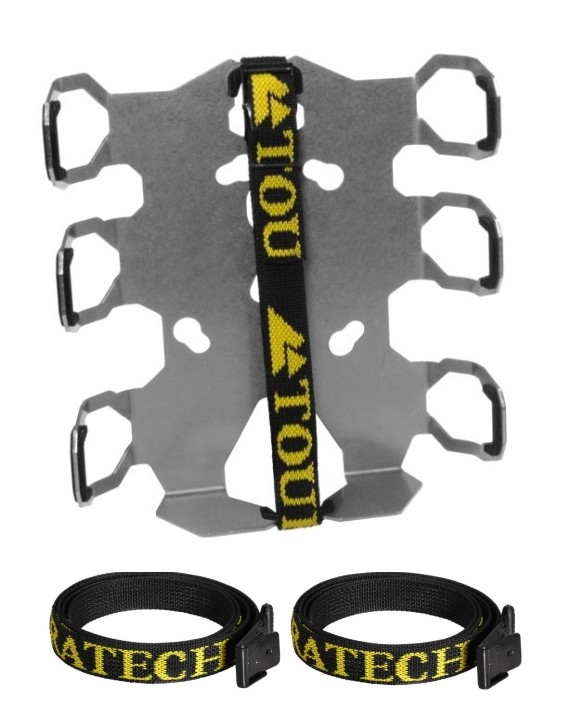 Touratech  Zega Pro - Adapter Plate with straps protection Double Bottle  050-0911