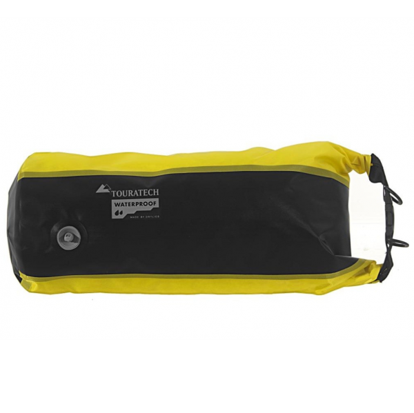 Touratech Dry bag PS17 with valve, size 5, 10, 13, & 22 litres, yellow/black, Waterproof 055-305