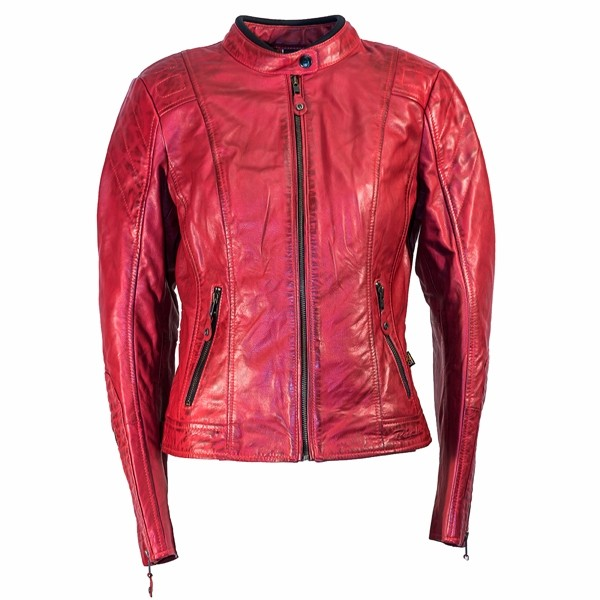 RICHA Lausanne Ladies Leather Jacket - Red