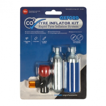 Oxford CO2 Tyre Inflator Kit, 2 Cycle Tyre Kit