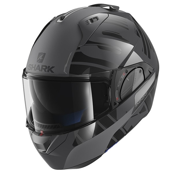 SHARK Evo One 2 Helmet - Lithion Dual AKA - Black/Grey