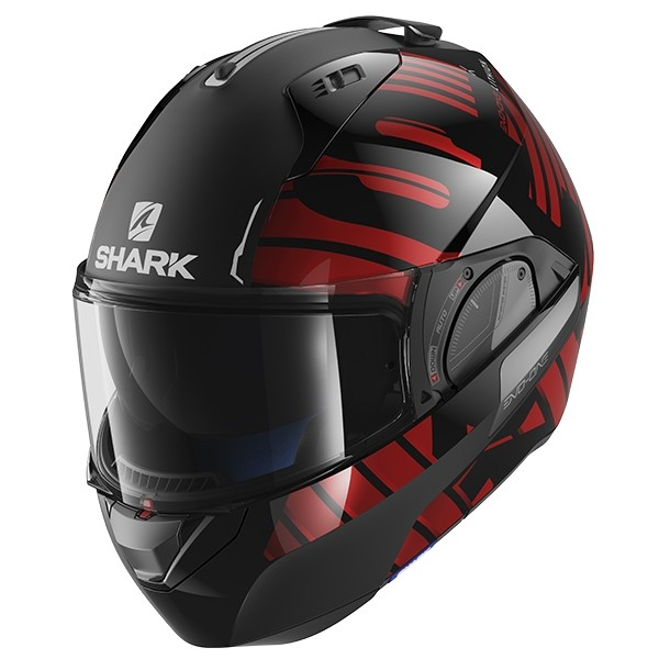SHARK Evo One 2 Helmet - Lithiun Dual KUR - Black/Red