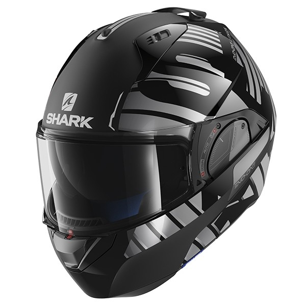SHARK Evo One 2 Helmet - Lithion Dual KUA - Black/Silver
