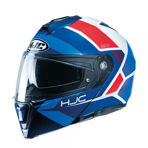 HJC I90 Flip Front Hollen MC21 Red White Blue