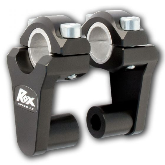 "RoxSpeed Handlebar Risers - Elite Pivoting 2"" Rise : 22 and 28mm handlebars - Black (1R-P2SEK)"