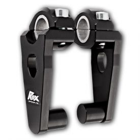 "RoxSpeed Handlebar Risers - Elite Pivoting 3.5"" Rise : 22 and 28mm handlebars in BLACK (1R-P3SE"