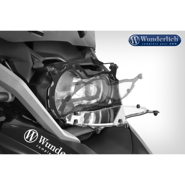Wunderlich Headlight protector foldable »CLEAR« - black
