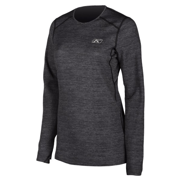Klim Womens Solstice Shirt Base Layers 1.0 - BLACK HEATHER