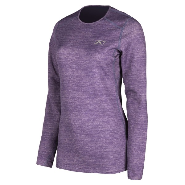 Klim Womens Solstice Shirt Base Layers 1.0 - DEEP PURPLE HEATHER