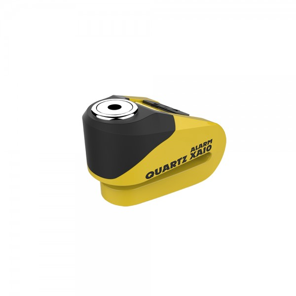 OXFORD Quartz XA10 Alarm Disc Lock (10mm Pin) YELLOW/BLACK