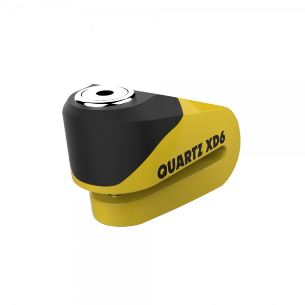 OXFORD Quartz XD6 Alarm Disc Lock (6mm Pin) YELLOW/BLACK