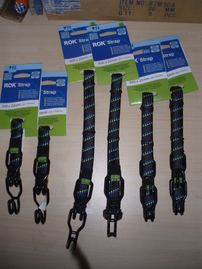 Motorcycle Bungee Rok Strap With High Tensile Steel Hooks 6 Strap Multi Pack