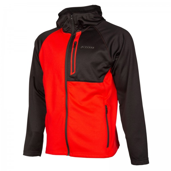 Klim Alpha Hoodie - HIGH RISK RED/BLACK