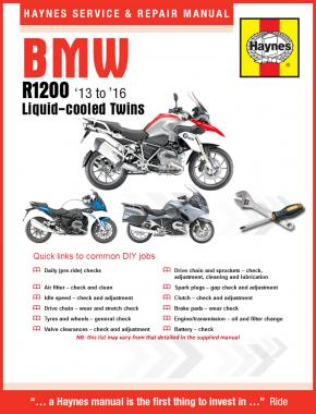Haynes BMW R1200 LC Twins 13 - 16 Manual