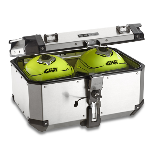 GIVI TREKKER OUTBACK Top Box 58 Litre LAST ONE IN ALUMINIUM FINISH