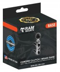 RAM MOUNT CHROME H/BAR BASE W/1