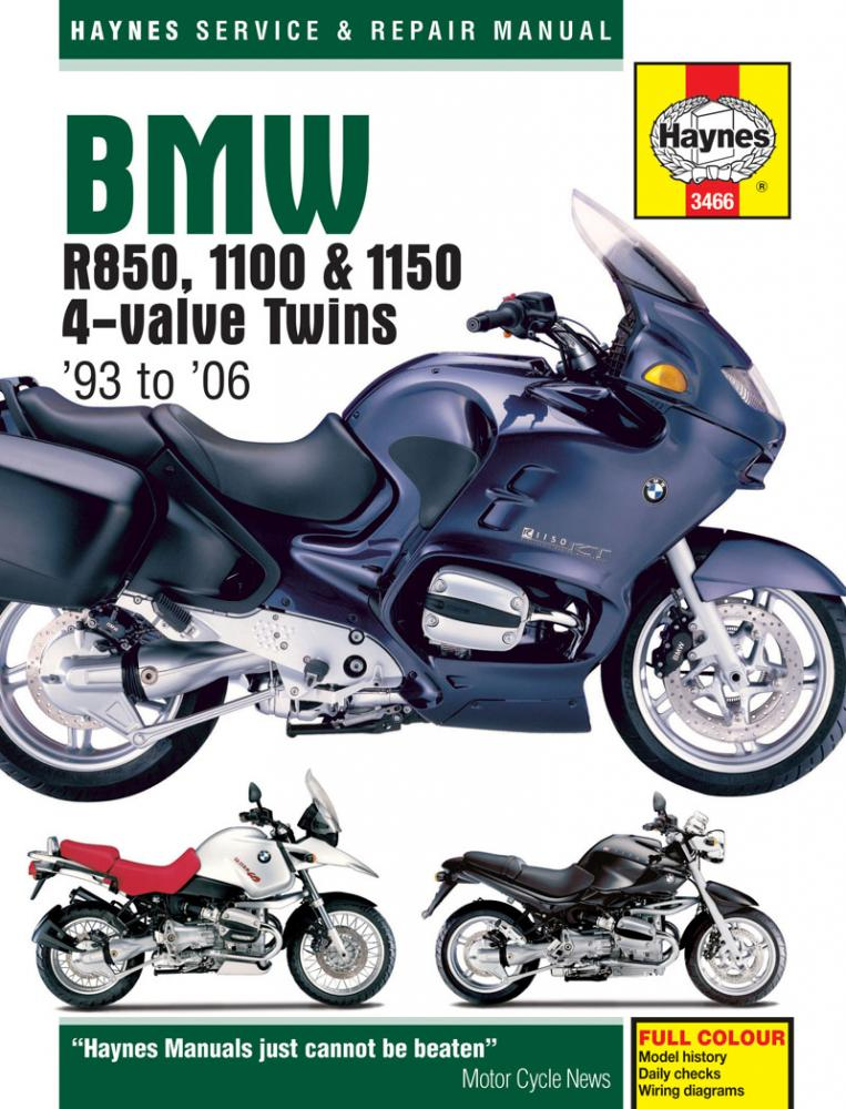 Haynes BMW R850, 1100 and 1150, 4-valve Twins, 93 to 06