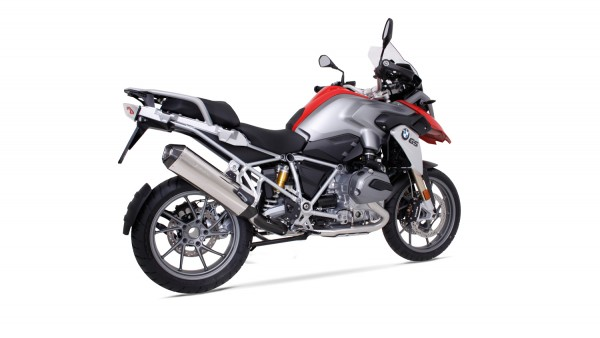 REMUS Hexacone Slip On With Carbon Heat Shield Polished Stainless for BMW R1200GS-LC & GSA-LC