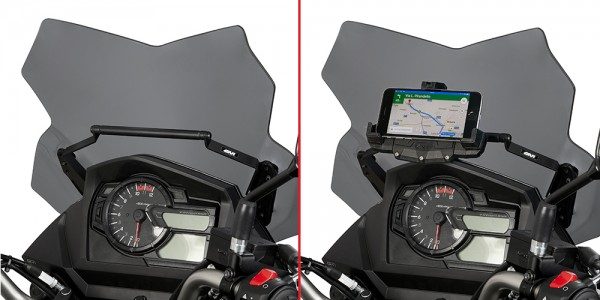 GIVI GPS Mounting bar for 650 VStrom 17 on