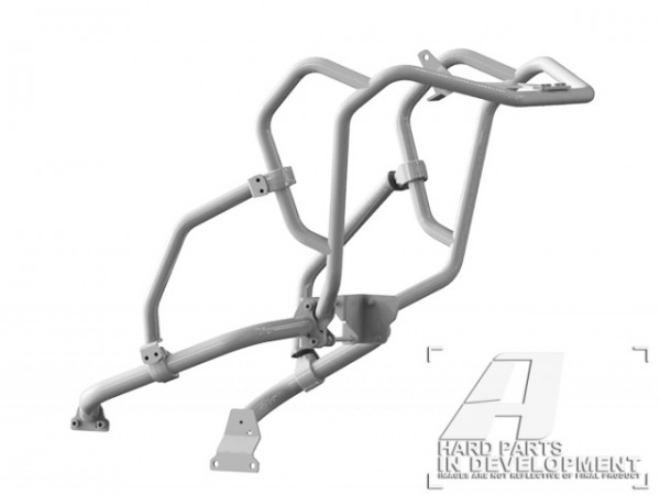 AltRider Crash Bar System for the Honda CRF1000L Africa Twin Adventure Sports in SILVER