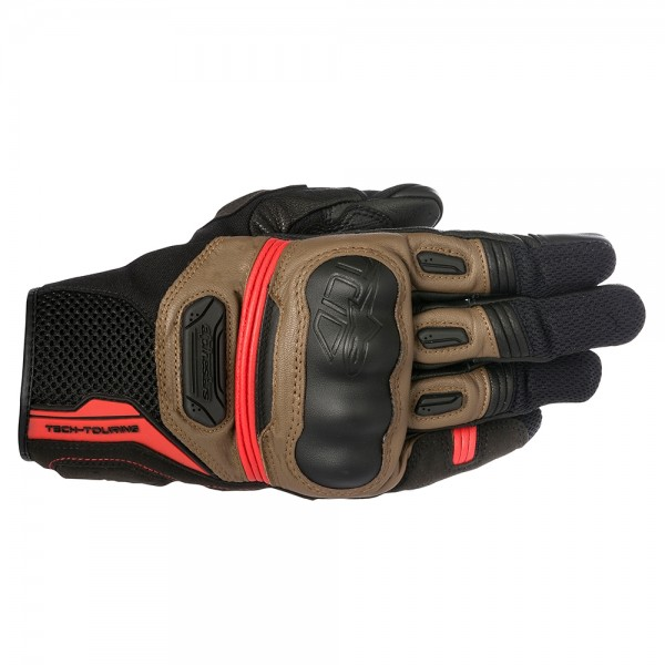 Highlands Gloves Tobacco Brown/Red