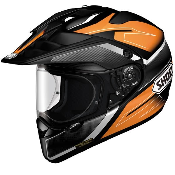 SHOEI Hornet ADV Seeker Dual Sport Helmet Orange/Black