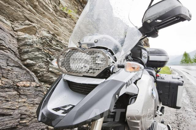 AltRider Headlight Guard Kit with Clear and Stainless Faces for BMW R1200GS (2003-2012)