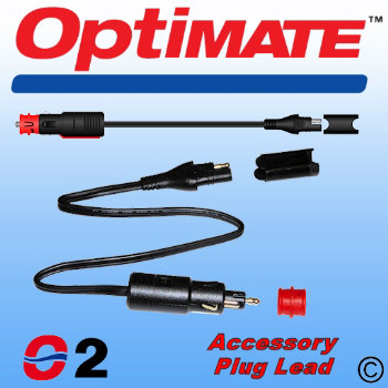 O2 OptiMate SAE to Cigarette Lighter / DIN Plug Lead