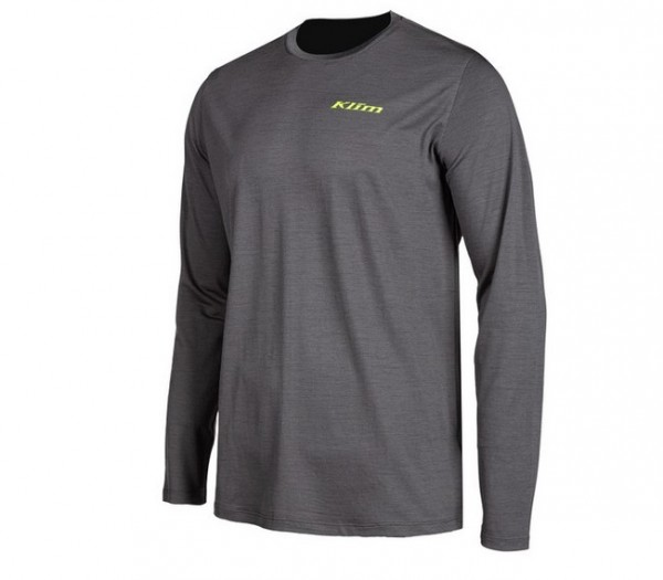 Klim Teton Merino Wool Long Sleeved Shirt ASPHALT