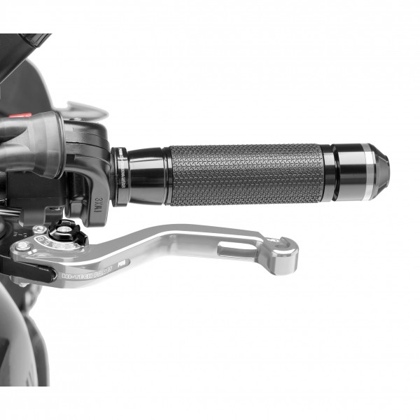 Puig Adjustable Clutch Levers 2.0 Silver with Black Adjusters