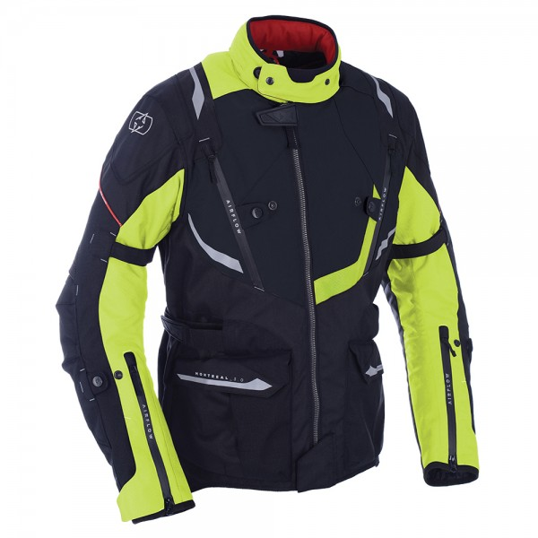 Oxford Montreal 3.0 Textile Jacket Tech BLACK/FLUO